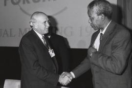 Frederik de Klerk e Nelson Mandela