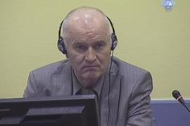 L'imputato per genocidio Ratko Mladic (foto di ICTY staff)