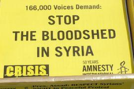 """Petizione di Amnesty """"per la fine dei massacri in Siria"""" (foto di amnestyinternational_usa)"""
