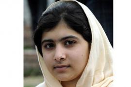 Malala Youszafai con il velo islamico (foto di Time World)