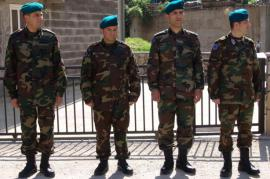 Soldati dell'Unione Europea in visita a Jablanica (foto di EUfor)