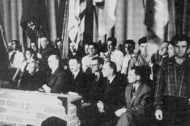 Membri di Zegota in un incontro ufficiale a Varsavia, aprile 1946
