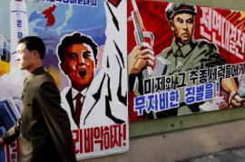 Manifesti a Pyongyang