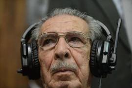 L'ex generale guatemalteco Rios Montt (foto AFP)