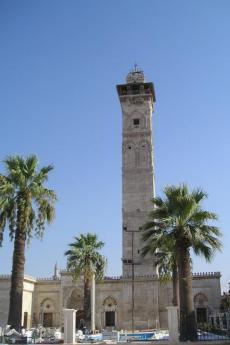 Il minareto della Grande Moschea prima della distruzione