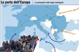 Rotte dei migranti (foto di Giornalettismo)