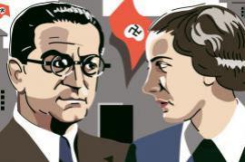 Israel Kastner e Hannah Szenes in una illustrazione di Eran Wolkowski
