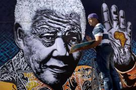 Un murale per Nelson Mandela