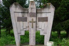 Monumento vicino a Prijedor dedicato ai soldati serbi