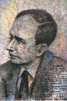 """With the same hands"", ritratto di Raul Wallenberg, opera di Peter Malkin"