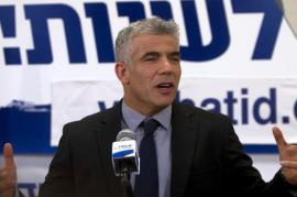 Yair Lapid, leader del partito Iesh Atid, foto Getty