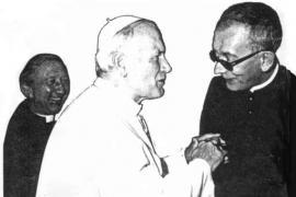 Don Francesco Ricci e Giovanni Paolo II