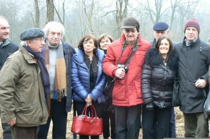 Antonio Ferrari, Gabriele Nissim e Franco Perlasca con Roberta Miotto e i dirigenti del Parco
