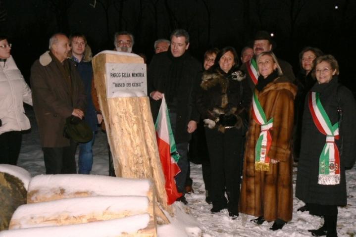 I sindaci dei Comuni del Parco all'inaugurazione