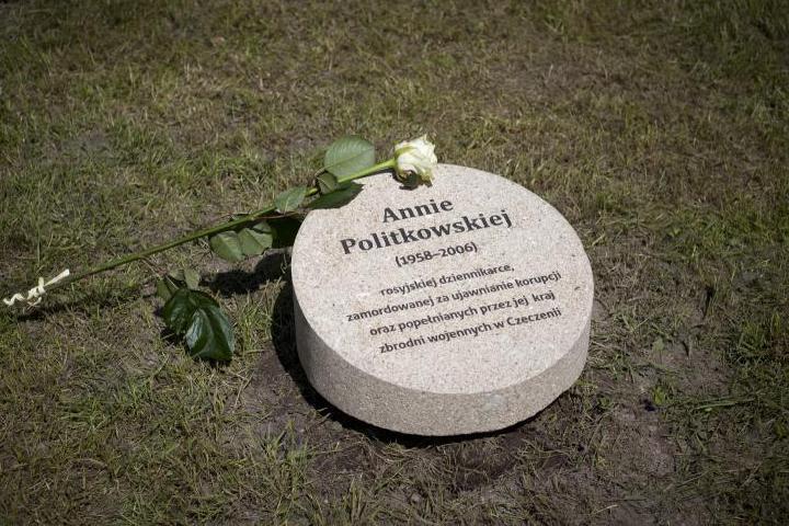 Cippo di Anna Politkovskaja