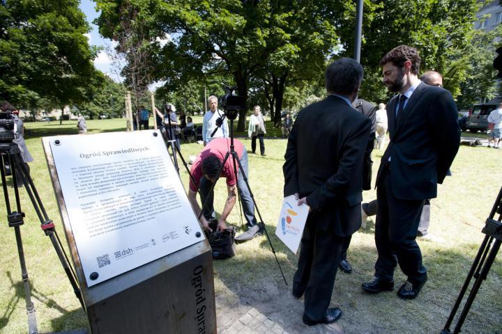 Inaugurazione del Giardino dei Giusti di Varsavia, 5 giugno