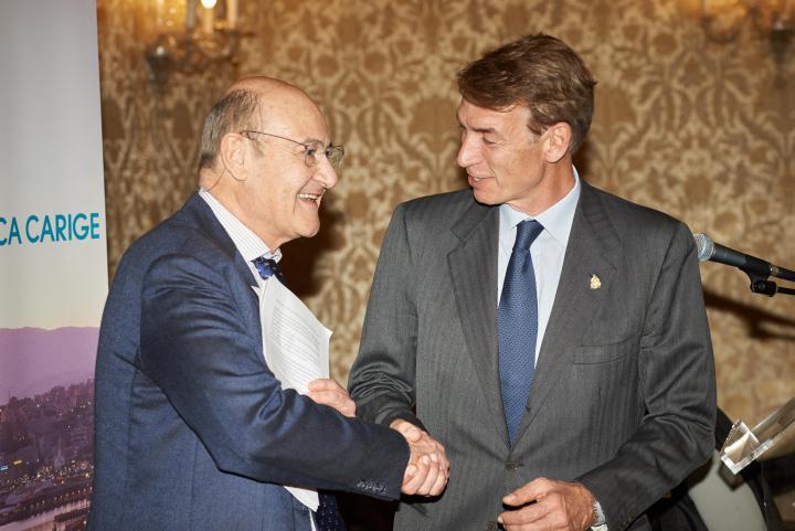 Gabriele Nissim con Alberto Tazartes, Console onorario Honduras