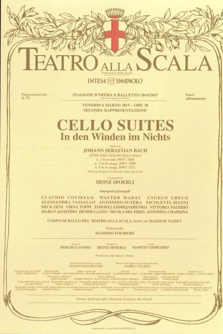 La locandina del balletto dedicato alla Giornata europea dei Giusti