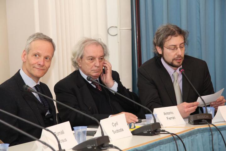 Cyril Svoboda, Antonio Ferrari e Andreas Pieralli