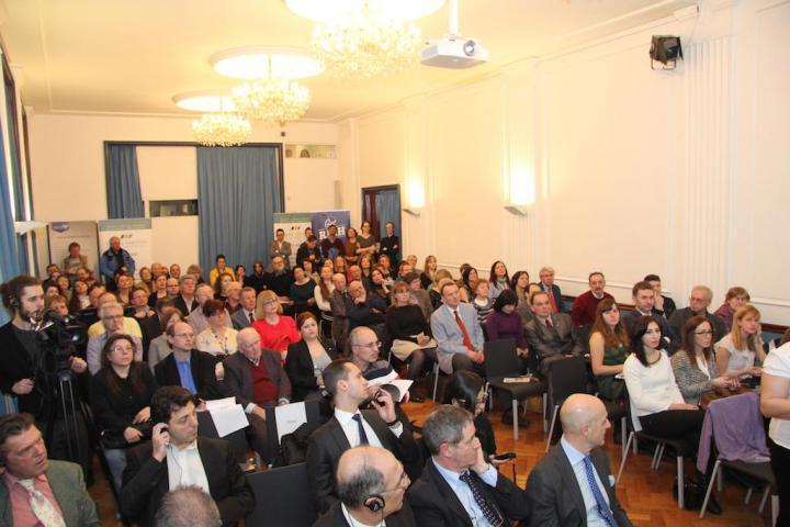 Gli ospiti della serata al Goethe Institut