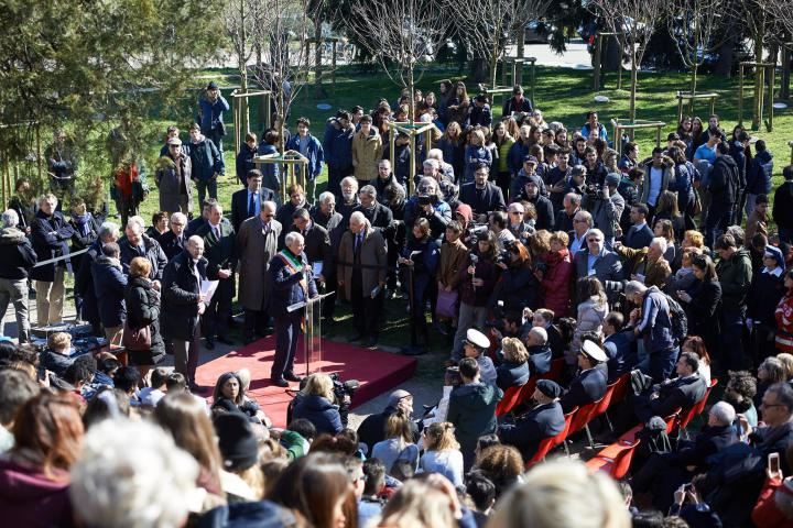 La celebrazione della Giornata europea dei Giusti al Monte Stella