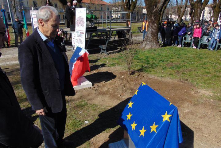 L'inaugurazione del Giardino dei Giusti di Orzinuovi