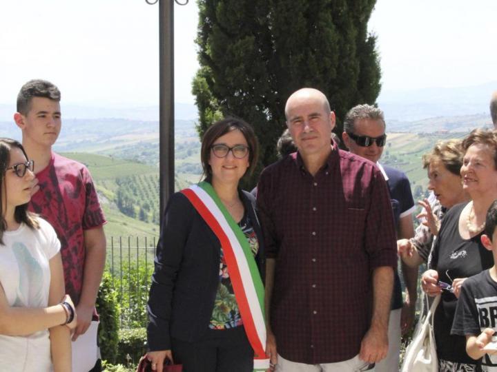 il vicesindaco Isabella Bosano e Beniamino Ventura