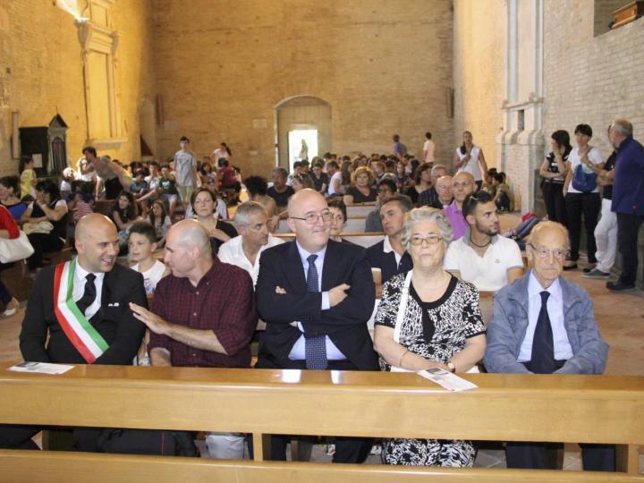Il sindaco Lucciarini, Beniamino Ventura e i parenti delle famiglie Talamonti