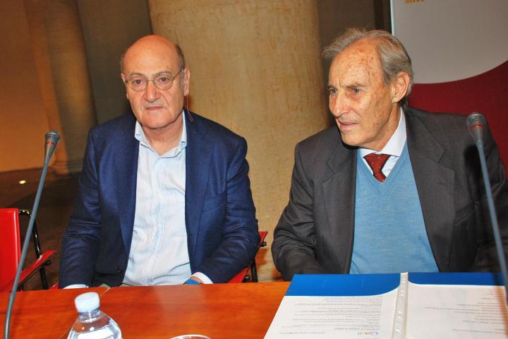 Il presidente di Gariwo Gabriele Nissim e Mischa Wegner
