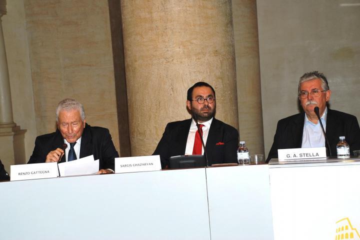 Renzo Gattegna, Sargis Ghazaryan e Gian Antonio Stella, giornalista