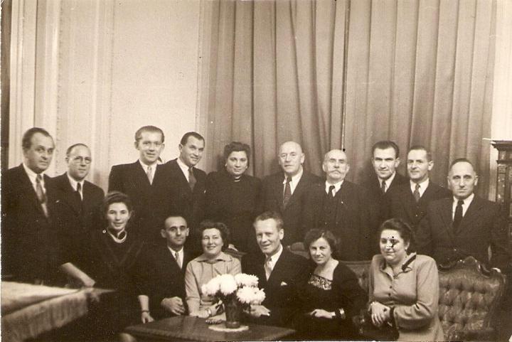 L'incontro nel  1949 con gli ex colleghi dell'ambasciata cecoslovacca