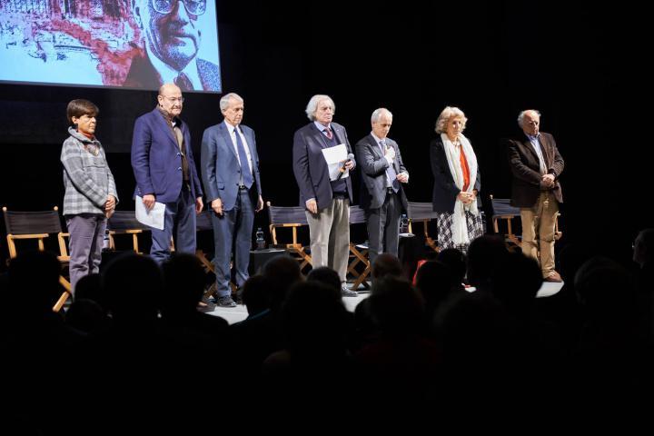I relatori del convegno. Da sinistra: Maria Teresa Grassi, Gabriele Nissim, Giuliano Pisapia, Antonio Ferrari, Luciano Fontana, Eva Cantarella, Paolo Matthiae