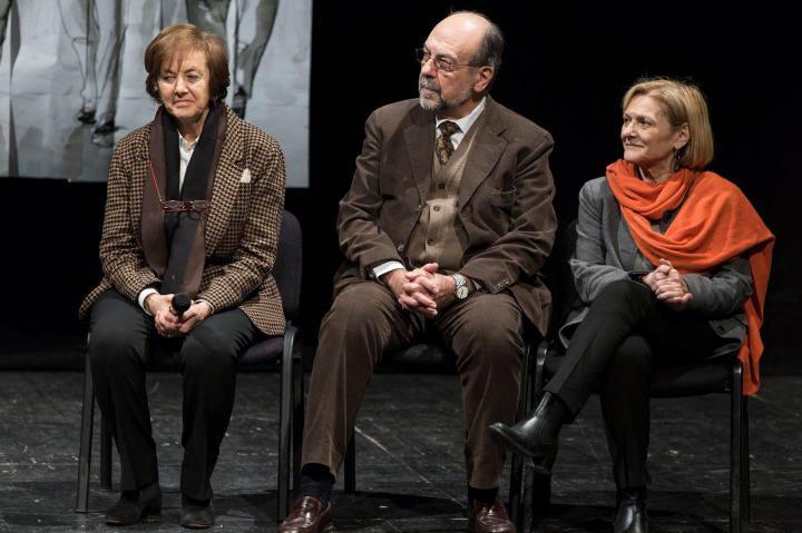 Anna Maria Samuelli, il consigliere dell'UCEI Giorgio Mortara e Franca Schiavon del Comune di Milano