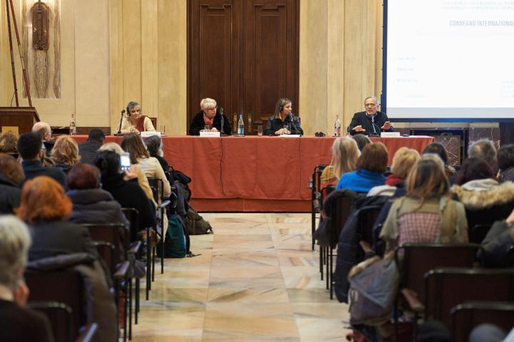 Da sinistra: Flavia Agnes, Ulianova Radice, Cecilia De Vincenti e Giovanni Impastato, figlio di Felicia e fratello di Peppino