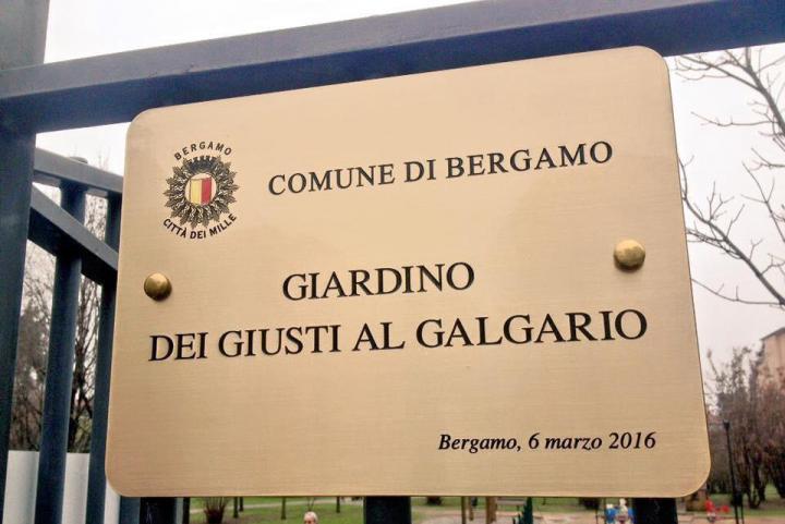 Inaugurazione del Giardino dei Giusti di Bergamo