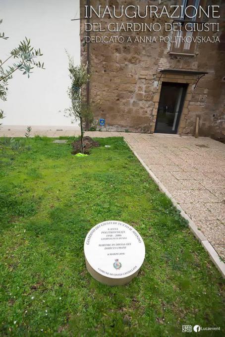 Inaugurazione del Giardino dedicato a Anna Politkovskaja a Civita Castellana