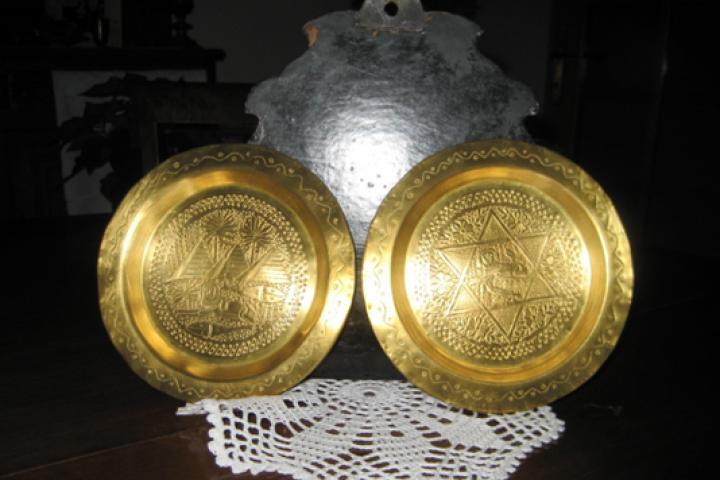 Piatti ebraici dati in dono a Leone Sanavia dalla signora De Benedetti come ringraziamento dopo il salvataggio