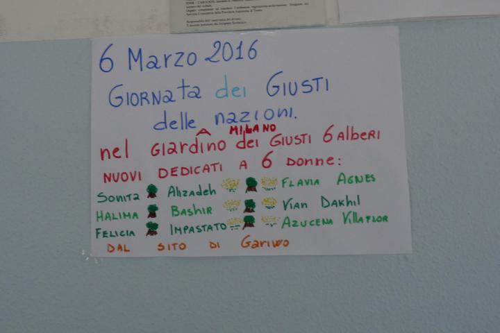 Giornata dei Giusti all'I.C. Riva1 Riva del Garda (TN)