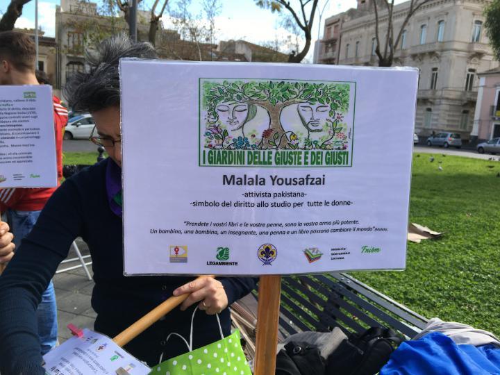 I cartelli preparati dagli studenti