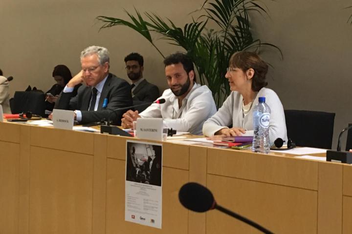Roberto Jarach, Alexandre Beddock e Milena Santerini