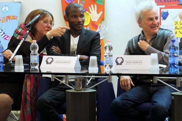 Lassana Bathily all'incontro di Vercelli