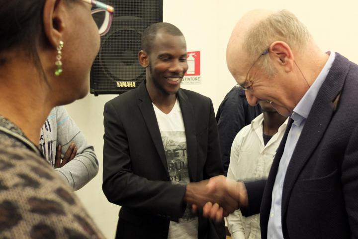 Lassana Bathily e Gabriele Nissim