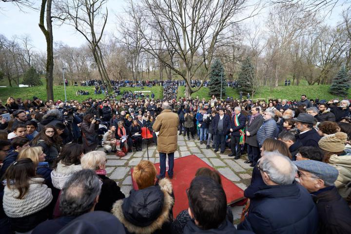 L'8 marzo, annuale cerimonia al Giardino dei Giusti del Monte Stella, dedicata alla resistenza morale e civile delle donne