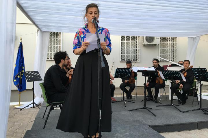 L'archeologa Cristina Miedico interviene in onore di Khaled al-Asaad..