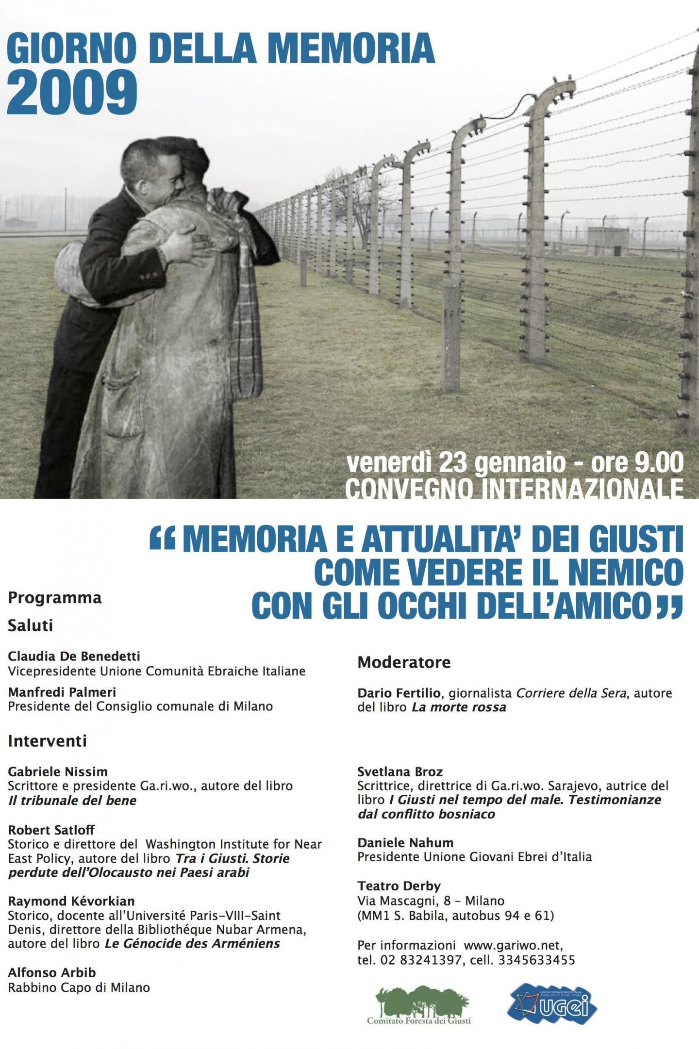 2009 - Convegno internazionale per il Giorno della Memoria