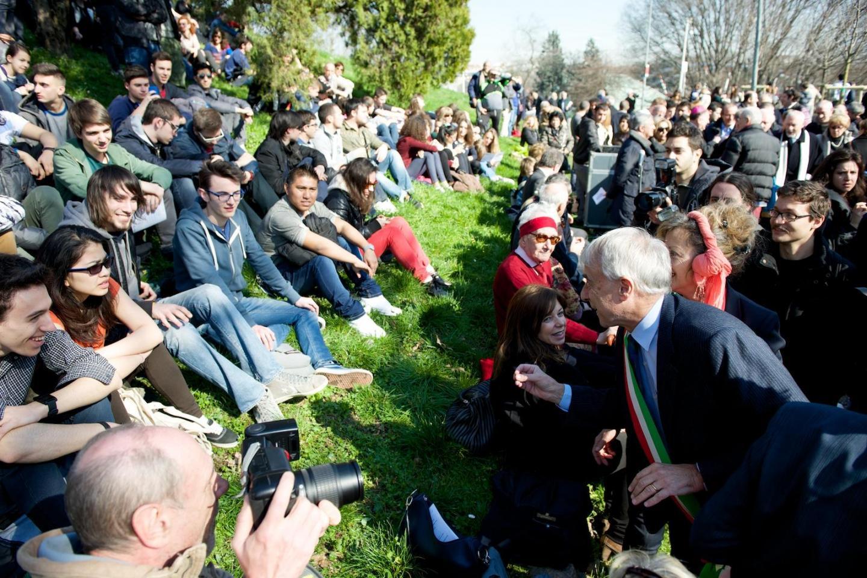 2015 - La cerimonia annuale di dedica dei nuovi alberi al Giardino di Milano per la Giornata europea dei Giusti