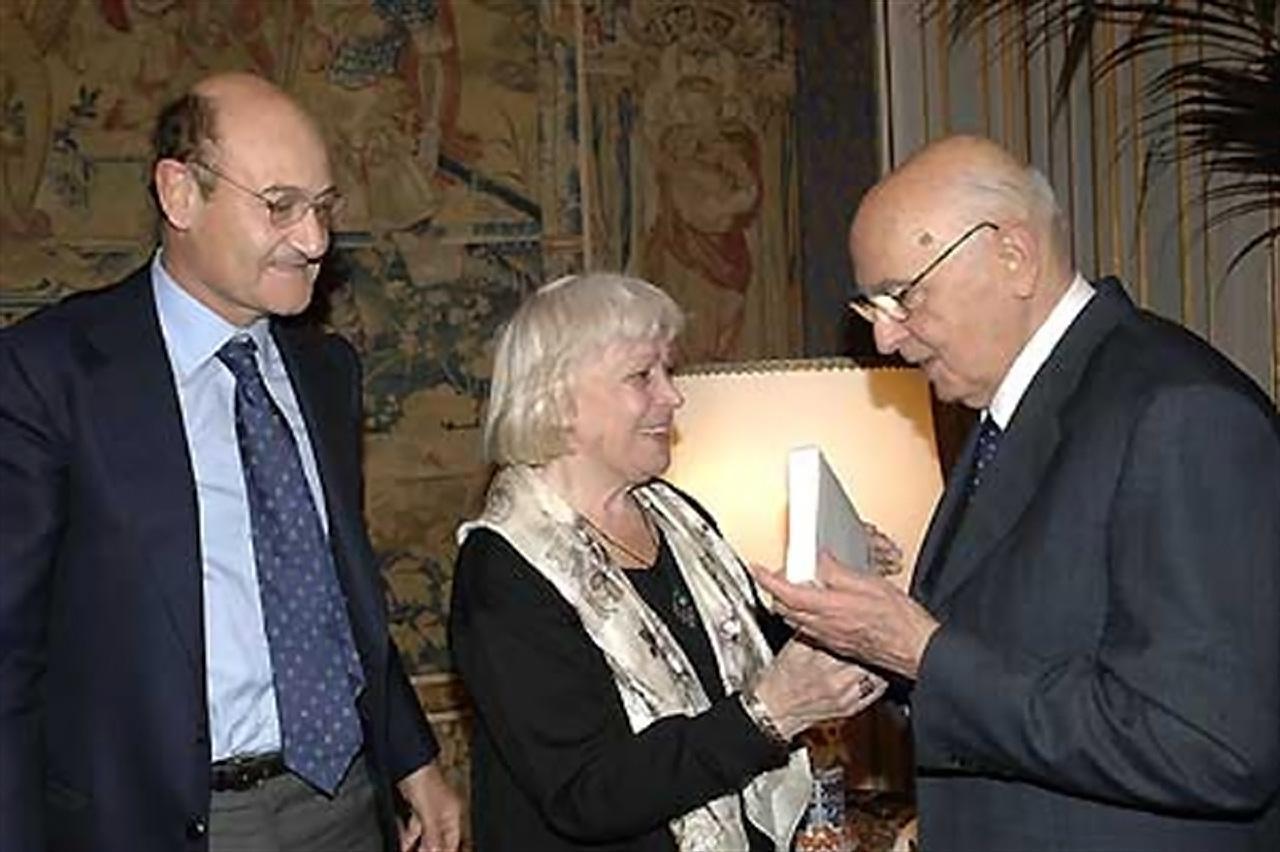 2007 - Gabriele Nissim e Luciana De Marchi dal Presidente della Repubblica Giorgio Napolitano