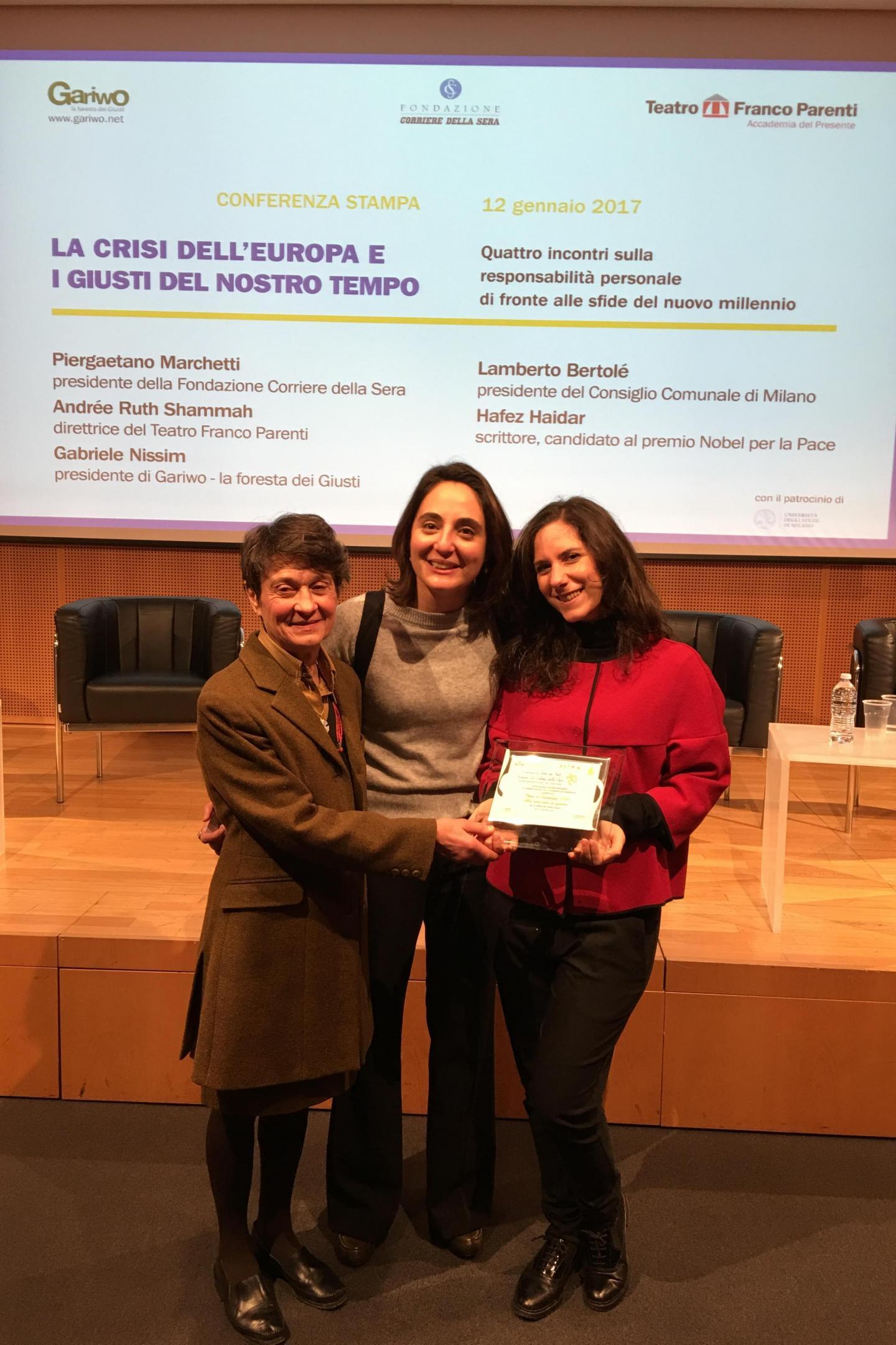 Da sinistra: Viviana Vestrucci, Valentina De Fazio e Martina Landi