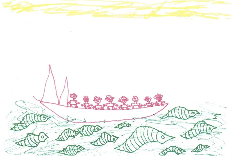 I disegni che nella loro semplicità racchiudono tutte le difficoltà affrontate