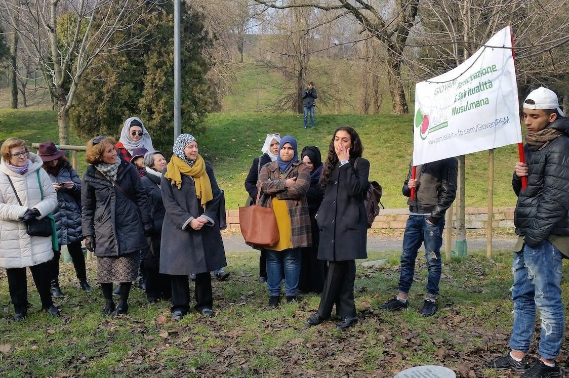 I Giovani Musulmani e altre associazioni islamiche arrivano al Giardino dei Giusti